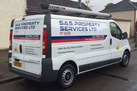 SAS Property Services Van